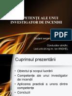 Competente Ale Unui Investigator de Incendii