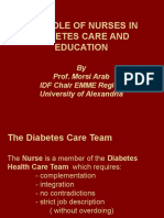 The Role of Nurses in Diabetes Care and Education