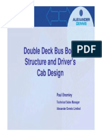 Double Deck Bus Body Structure and Driver's Cab Design
