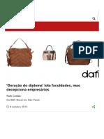 'Geração Do Diploma' Lota Faculdades, Mas Decepciona Empresários - BBC Brasil