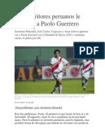 Tres Escritores Peruanos Le Escriben a Paolo Guerrero