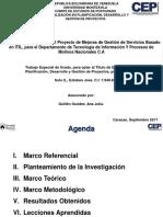 Presentacion Final Plan de Gestión de Servicios Basado en ITIL