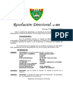 Modelo de Resolución Directoral de Traslado.i.e