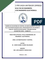 Diseño de Un Sistema de Control de Desplazamiento de Una Silla de Ruedas Basado en El Procesador de Voz SPCE061A Para El Centro de Educacio y Rehabilitacon Sicomotriz Cerci - Chimbote