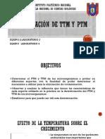 Determinacion de TTM y PTM1