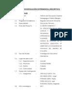 Proyecto de Investigación Experimental Descriptivo