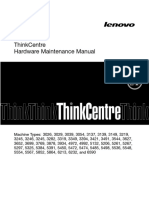 Lenovo ThinkCentre M90 5474-X01 Desktop PC Hardware Maintenance Manual