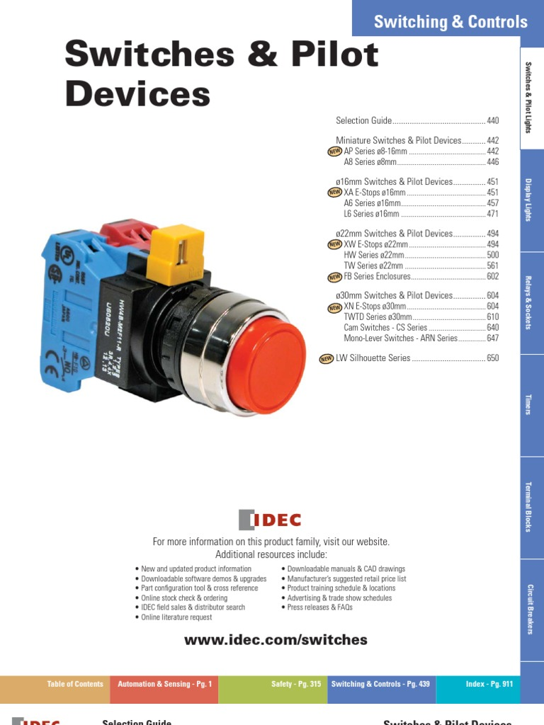 Idec Switch Family Light Emitting Diode Relay Wiring