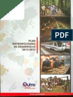 Plan Metropolitano Desarrollo 2012-2022
