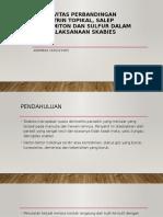 Efektivitas Perbandingan Permetrin Topikal, Salep Crotamiton Dan