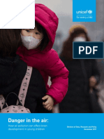 'Danger in the Air'. Informe de Unicef