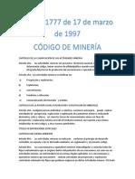 CAPITULO I DE LA CLASIFICACION DE LAS ACTIVIDADES MINERAS.docx