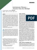 Journal of the American Dietetic Association Volume 106 issue 3 2006 [doi 10.1016_j.jada.2005.12.009] Barbara L. Mark; Jo Ann S. Carson -- Vitamin D and Autoimmune Disease—Implications for Practice