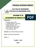 ALIVIADEROS DE CIMACIO CON RÁPIDA