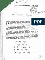 Ricordi ebraici a macerata