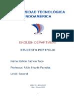 Portafolio 2nd-Semi Edwin Taco