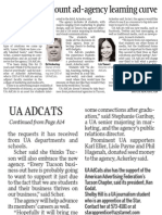 UA Students Mount Ad-Agency Learning Curve
