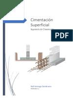 Cimentacion Superficial