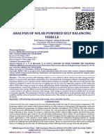 ANALYSIS OF SOLAR POWERED SELF BALANCING VEHICLE