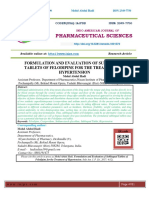 FORMULATION AND EVALUATION OF SUBLINGUAL TABLETS OF FELODIPINE FOR THE TREATMENT OF HYPERTENSION