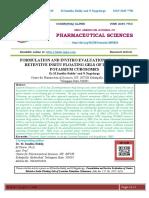 FORMULATION AND INVITRO EVALUATION OF GASTRO RETENTIVE INSITU FLOATING GELS OF LOSARTAN POTASSIUM CUBOSOMES