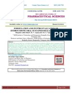 FORMULATION AND INVITRO EVALUATION OF HYDROCODONE ORAL SUSTAINED RELEASE TABLETS