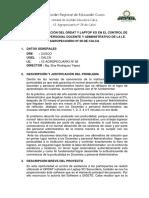 Proyecto Aplicación Del Qrdat y Laptop Xo en El Control de Asistencia Del Personal Docente y Administrativo de La i