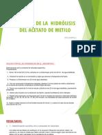 Cinética de La Hidrólisis Del Acetato de Metilo