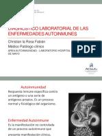 Diagnostico Laboratorial en Enfermedades Autoinmunes 2017