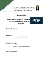 Monografia Floculadores y Mezcladores Rapidos