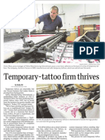 Temporary-Tattoo Firm Thrives