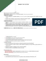 Proiect de Lectie Rolul Derivatei Intai