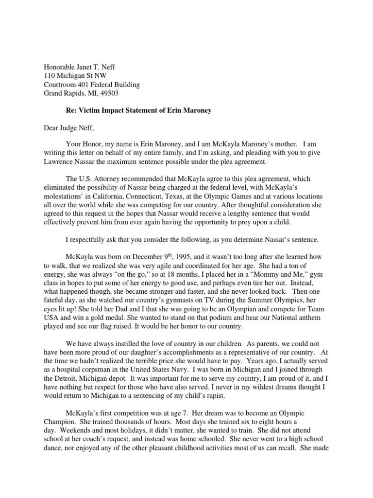 Erin Maroneyu0027s Statement | Child Sexual Abuse | Plea Bargain