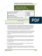Owners Equity Statement Form Instructions