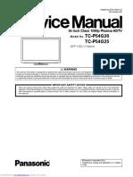 Panasonic Plasma tcp54g20 Factory Service Manual