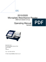 2010_2020 Microplate Absorbance Reader 2020 Sw-Version 2.0 Up Operating Manual Ver 03_10