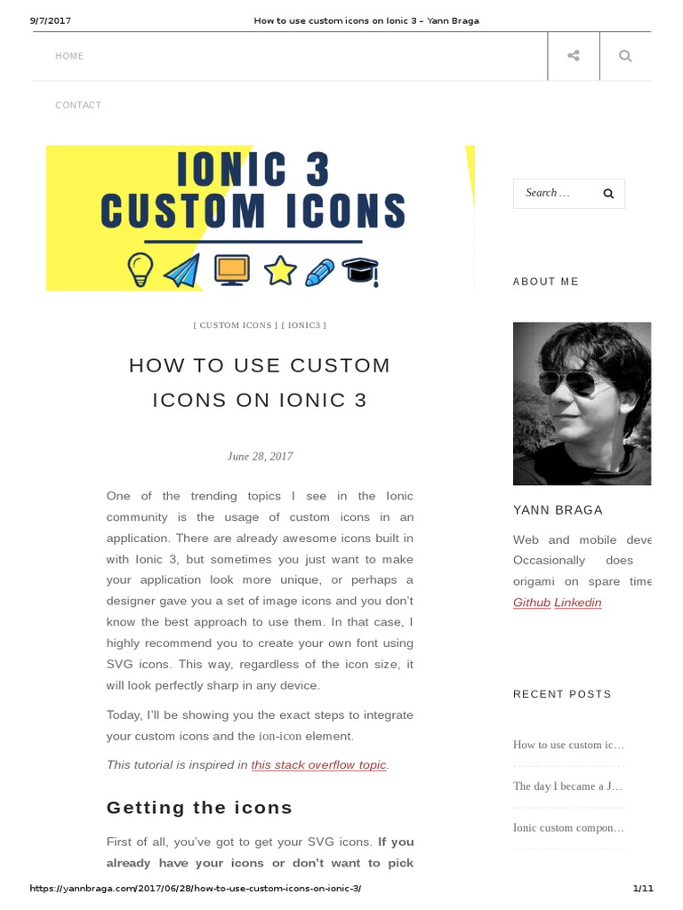 How to Use Custom Icons on Ionic 3 – Yann Braga | Software