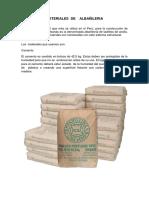 Materiales de ALBAÑILERIA