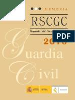 Guardia Civil española Memoria RSC 2016