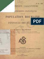 Vasile Diamandi - La population Roumaine de la Peninsule des Balkans