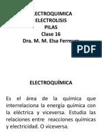 Clase 16-Electroquimica, Electrolisis y Pilas-1