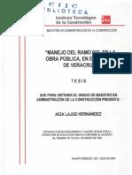 Manejo Del Ramo 033 en La Obra Pública