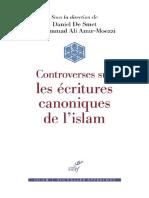 Controverses Sur Les Ecritures Canoniques de Lislam