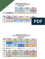 Horario 2017 II Administracion