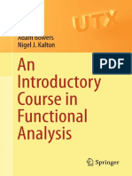 Functional Analysis Kalton