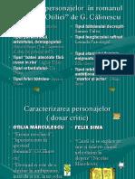 Tipologia Personajelor Felix Si Otilia