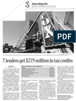 7 Lenders Get $275 Million in Tax Credits