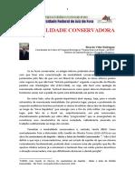 Artigo VÉLEZ RODRÍGUEZ, Ricardo - A Mentalidade Conservadora