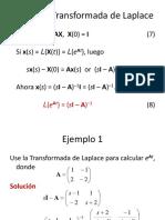 Matriz Exponencial Uso de La Transformada de Laplace (1)