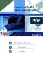 Resolução prova 2014 EsFCEX Informática 01 (anulada)